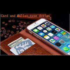 iPhone 8 Wallet Case Leather Flip Card Holder iPhone Cover Brown-CoolDesignOnline