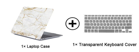 MacBook Pro Case 13 inch Touch Bar Clear Shell Laptop Cover Matte Black-CoolDesignOnline