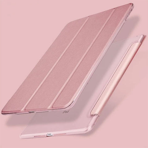 iPad Pro Case 10.5-inch 2nd Generation PU Leather Smart Cover Rose Gold-CoolDesignOnline
