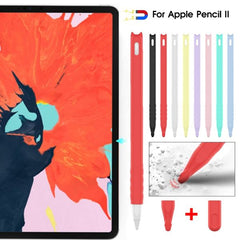 Apple Pencil 2 Case Lovely Cat Pattern Black Apple Pencil 2 Cover-CoolDesignOnline