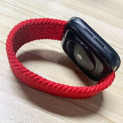 Apple Watch Band 40mm - 38mm Red Nylon Braided Solo Loop-CoolDesignOnline