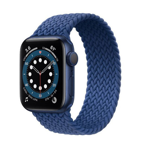 Apple Watch Band 40mm - 38mm Blue Nylon Braided Solo Loop-CoolDesignOnline