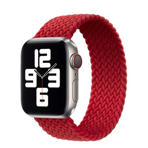 Apple Watch Band 44mm - 42mm Red Nylon Braided Solo Loop-CoolDesignOnline