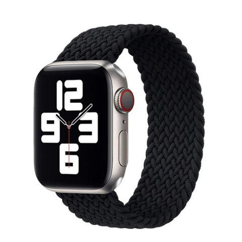 Apple Watch Band 44mm - 42mm Black Nylon Braided Solo Loop-CoolDesignOnline