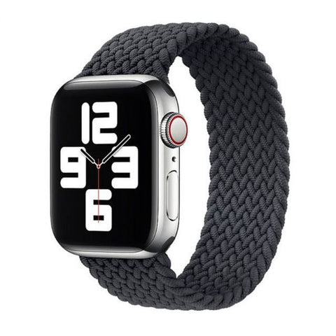Apple Watch Band 44mm - 42mm Grey Nylon Braided Solo Loop-CoolDesignOnline