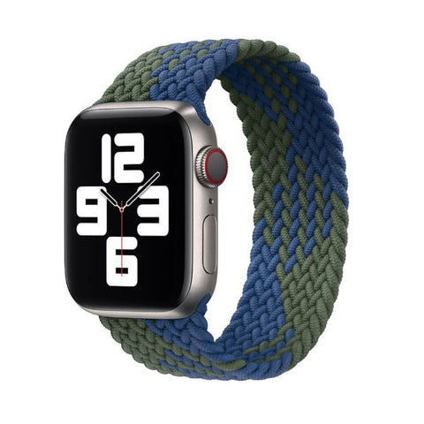 Apple Watch Band 44mm - 42mm Blue Green Triangle Nylon Braided Solo Loop-CoolDesignOnline