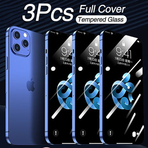 Best iPhone 12 Pro Screen Protector Tempered Glass Full Cover 3 pcs-CoolDesignOnline