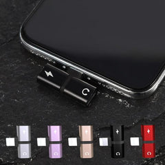 Dual Lightning Adapter For iPhone 2 in 1 Red Dual-Port Splitter-CoolDesignOnline