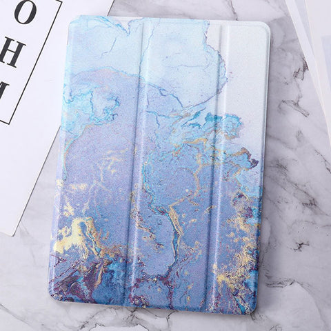 iPad mini 4 Case Blue Marble Smart Cover-CoolDesignOnline