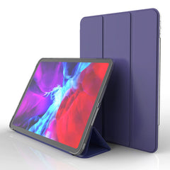 iPad Pro Case 11 2020 4th Generation Soft TPU Dark Blue Leather Cover-CoolDesignOnline