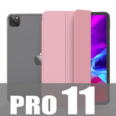 iPad Pro Case 11 2020 4th Generation Soft TPU Pink Leather Cover-CoolDesignOnline
