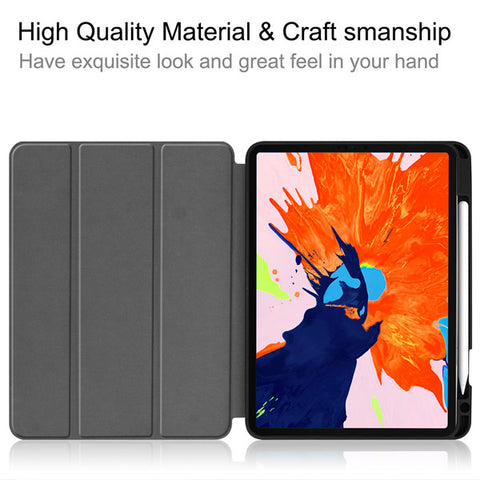 iPad Pro Case 2020 12.9 inch 4th Generation With Pencil Holder Leather Cover IPTPU01-CoolDesignOnline