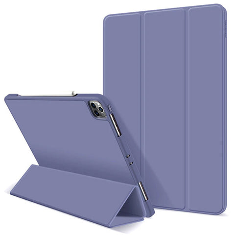 iPad Pro Case 2020 11 inch 4th Gen Pencil Holder Lavender Leather Cover-CoolDesignOnline