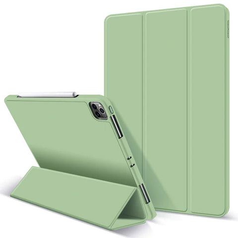 iPad Pro Case 2020 11 inch 4th Gen Pencil Holder Green Leather Cover-CoolDesignOnline