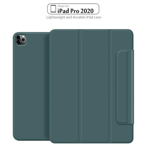 iPad Pro Case 2020 12.9 inch 4th Gen Pencil Holder Green Magnetic Cover-CoolDesignOnline