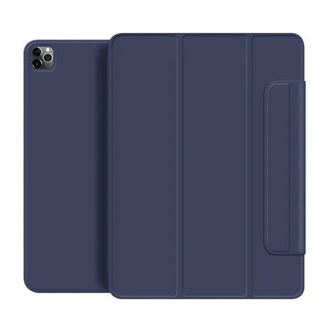 iPad Pro Case 2020 12.9 inch 4th Gen Pencil Holder Blue Magnetic Cover-CoolDesignOnline