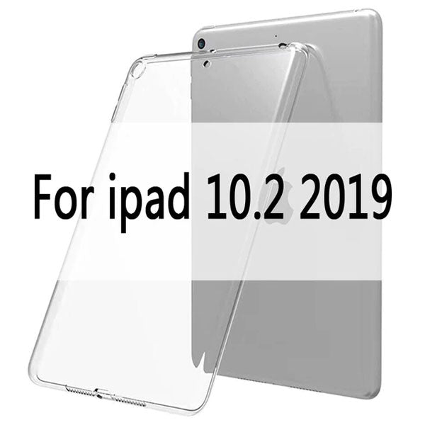 iPad 10.2 Case TPU Transparent Silicone Shockproof Cover-CoolDesignOnline