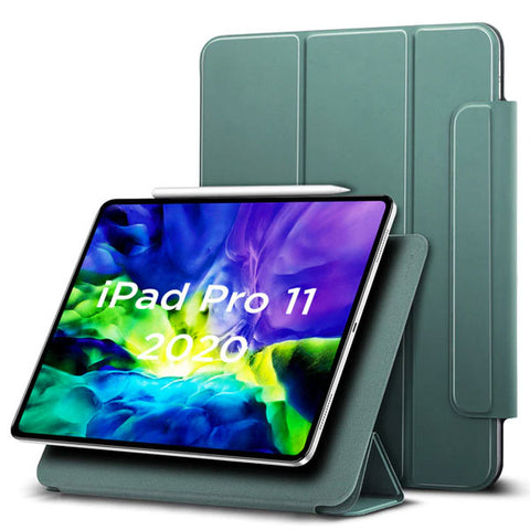 iPad Pro 11 Case With Pencil Holder 2020 4th Gen Green iPad Cover-CoolDesignOnline