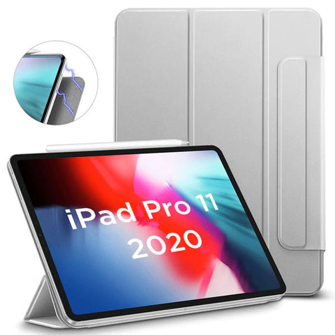 iPad Pro 11 Case With Pencil Holder 2020 4th Gen Grey iPad Cover-CoolDesignOnline