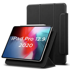 iPad Pro 12.9 Case With Pencil Holder 2020 4th Gen Black iPad Cover-CoolDesignOnline