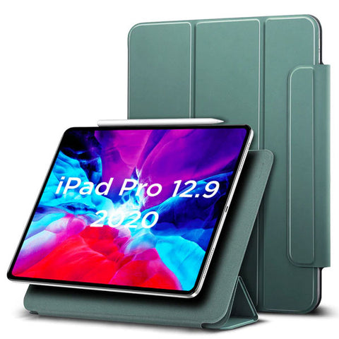 iPad Pro 12.9 Case With Pencil Holder 2020 4th Gen Green iPad Cover-CoolDesignOnline