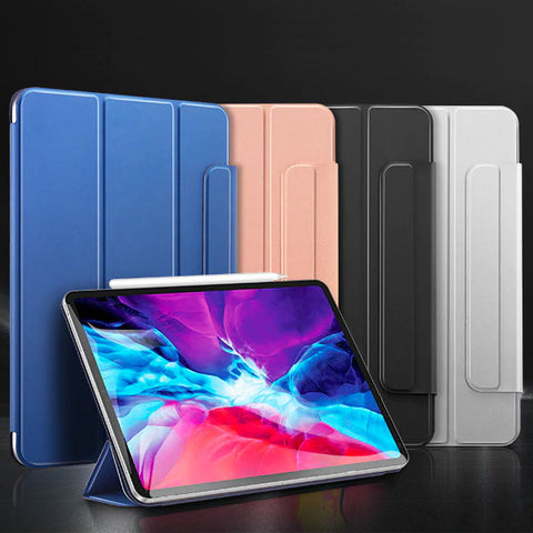 iPad Pro 12.9 Case With Pencil Holder 2020 4th Gen Blue iPad Cover-CoolDesignOnline