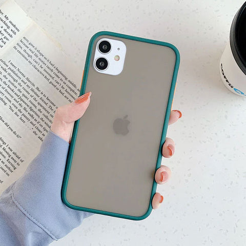 iPhone 11 Pro Case Clear Silicone Mint Hybrid Bumper Soft Cover T10-CoolDesignOnline