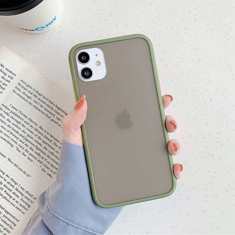 iPhone 11 Pro Case Clear Silicone Mint Hybrid Bumper Soft Cover T4-CoolDesignOnline