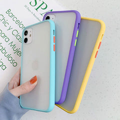 iPhone 11 Pro Max Case Clear Silicone Mint Hybrid Bumper Soft Cover T5-CoolDesignOnline
