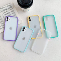 iPhone 11 Pro Max Case Clear Silicone Mint Hybrid Bumper Soft Cover T8-CoolDesignOnline