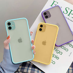 iPhone 11 Pro Max Case Clear Silicone Mint Hybrid Bumper Soft Cover T6-CoolDesignOnline