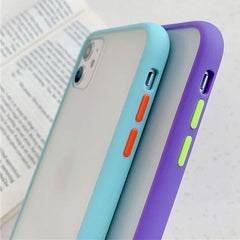 iPhone 11 Pro Max Case Clear Silicone Mint Hybrid Bumper Soft Cover T1-CoolDesignOnline