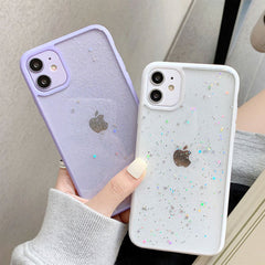 iPhone 11 Case Lavender Glitter Stars Candy Color Clear iPhone Cover-CoolDesignOnline