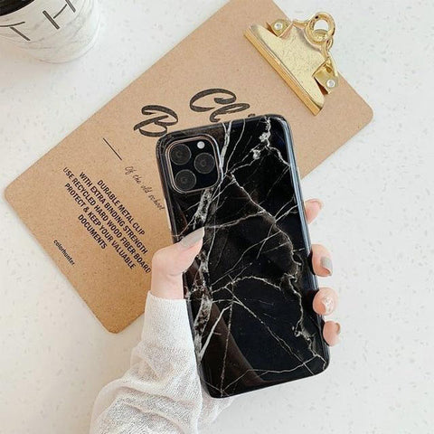 iPhone 11 Pro Case Black Marble Case iPhone 11 Pro Cover-CoolDesignOnline