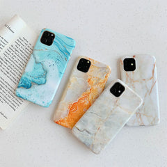 iPhone 11 Pro Max Case Cyan Marble Case iPhone 11 Pro Max Cover-CoolDesignOnline