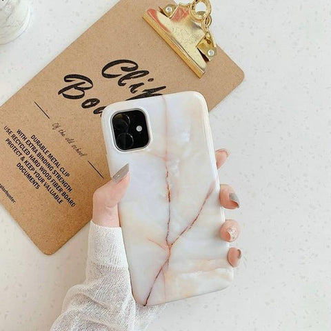 iPhone 11 Case White Marble Case iPhone 11 Cover B-CoolDesignOnline