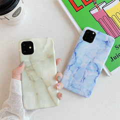 iPhone 11 Case Cyan Marble Case iPhone 11 Cover-CoolDesignOnline