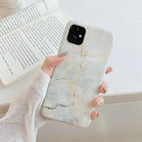 iPhone 11 Pro Max Case White Marble Case iPhone 11 Pro Max Cover H-CoolDesignOnline