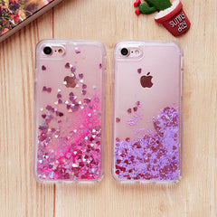 iPhone 7 Case Glitter Liquid Sand Gold Silicone iPhone Cover-CoolDesignOnline