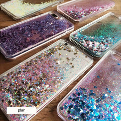 iPhone 6s Case Glitter Liquid Sand Blue Silicone iPhone Cover-CoolDesignOnline