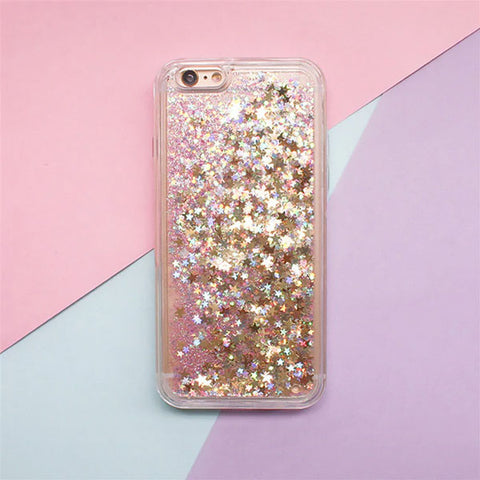 iPhone 6s Case Glitter Liquid Sand Gold Silicone iPhone Cover-CoolDesignOnline