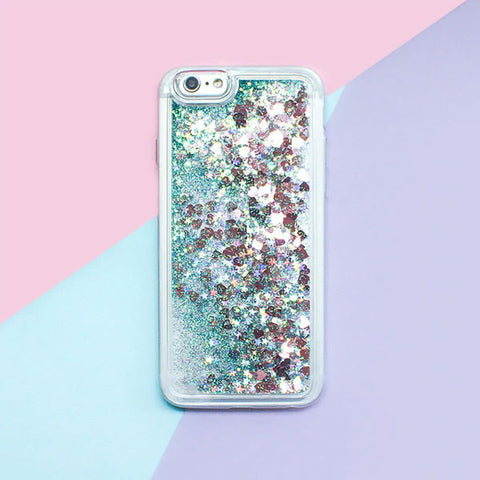 iPhone 8 Case Glitter Liquid Sand Green Silicone iPhone Cover-CoolDesignOnline