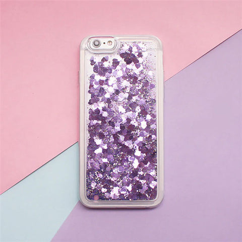 iPhone 7 Case Glitter Liquid Sand Purple Silicone iPhone Cover-CoolDesignOnline