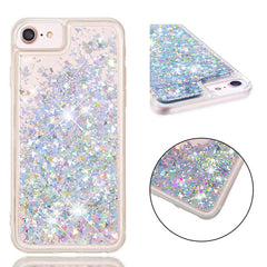 iPhone SE Case 2020 Silver Glitter Liquid Sand Silicone iPhone Cover-CoolDesignOnline