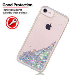 iPhone SE Case 2020 Pink Glitter Liquid Sand Silicone iPhone Cover-CoolDesignOnline