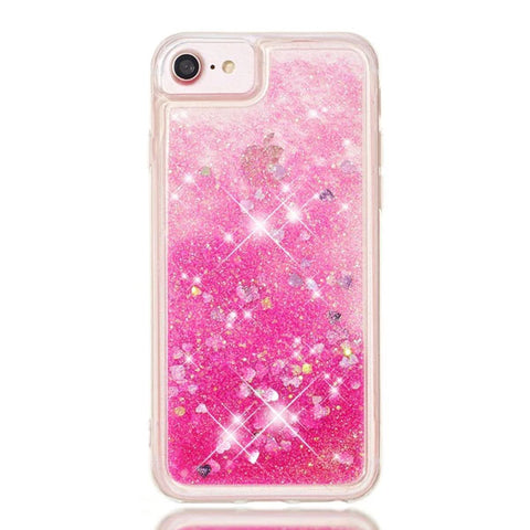 iPhone 8 Case Pink Glitter Liquid Sand Silicone iPhone Cover-CoolDesignOnline