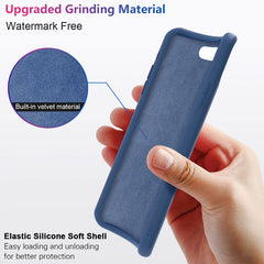 iPhone SE Case 2020 Soft Silicone Candy Blue Color For iPhone SE-CoolDesignOnline