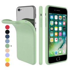 iPhone SE Case 2020 Soft Silicone Candy Green Color For iPhone SE 2-CoolDesignOnline