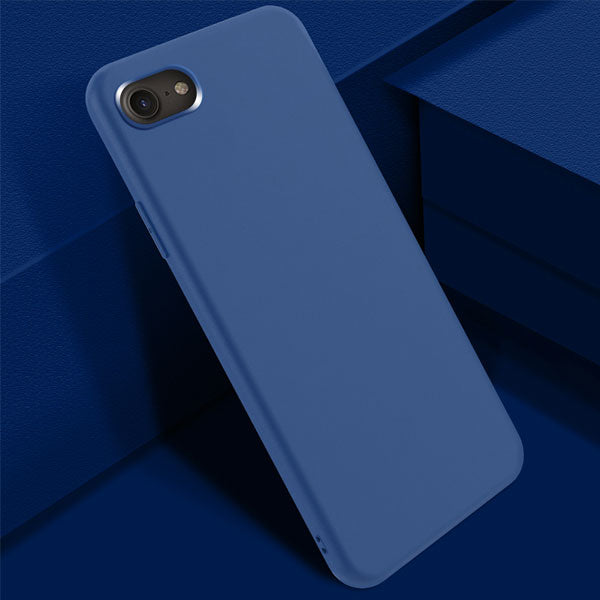 iPhone SE Case 2020 Soft Silicone Candy Navy Color For iPhone SE 2-CoolDesignOnline