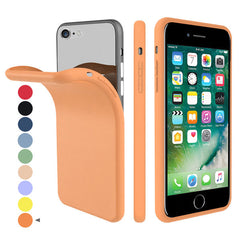 iPhone SE Case 2020 Soft Silicone Candy Orange Color For iPhone SE 2-CoolDesignOnline